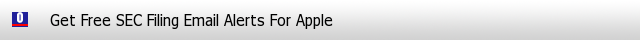 Apple SEC Filings Email Alerts image